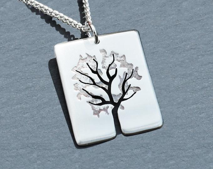 Silver Tree Pendant, Silver Jewelry, Silver Jewellery, Silver Pendant, Leafy Tree.