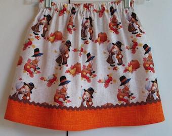 Vintage Little Pilgrims Thanksgiving  Skirt size 6