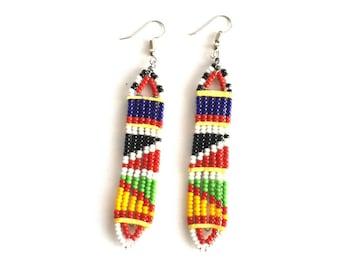 Long bead earrings, earrings for women, handmade earrings