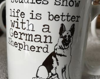 Coffee mug - choice of german shepherd mug.