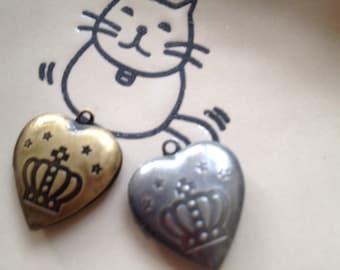 Crown - HEART Locket  20x20mm - Code 279.663