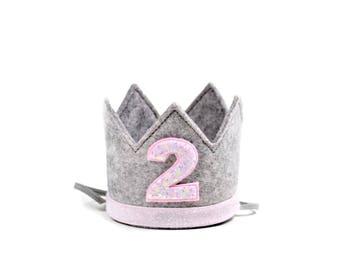 Second Birthday Crown    Girl Birthday Crown Headband    Girl 2nd Birthday Crown    Girl Birthday Crown