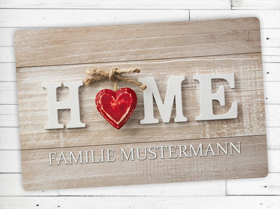 """Floor Mat """"Home"""" with your name or desired text"""