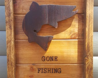 Gone Fishing Wall Hanging