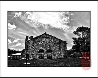 Printable Black and White Architectural Photography Wall Art, Mexican Church, Instant Download, Catholic Architecture Photo Wall Decor