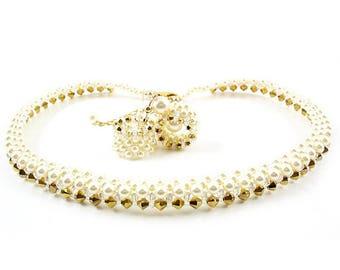 Luxury Aurum set - necklace and earrings