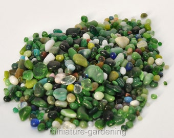 Forest Glass Pebbles for Miniature Garden, Fairy Garden