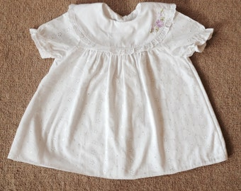 Baby Dress. 1970's babies baby embroidery dress
