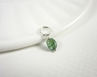 XS - Natural Emerald Necklace Charms - Genuine Emerald Jewelry - Born in May Birthstone Charms - New Mom Gift - Gifts for Mom from Daughter