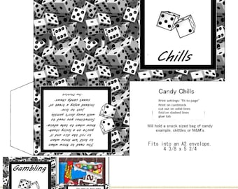 PRINT YOUR OWN Dice Gambling Candy Chills