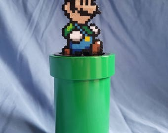 Luigi Figurine with Pipe Stand