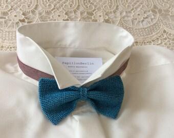 Knit fly, silk/wool, blue/ocean/
