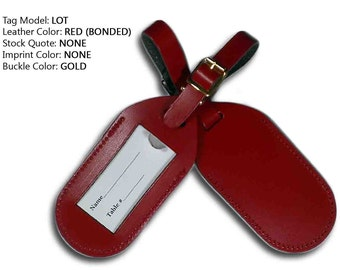 Wedding Escort Favor Leather Luggage Tag ( LOT )  ** Imprints purchased separately