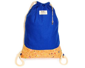Ochos | Atlantic-Blue Cork Sack Bag