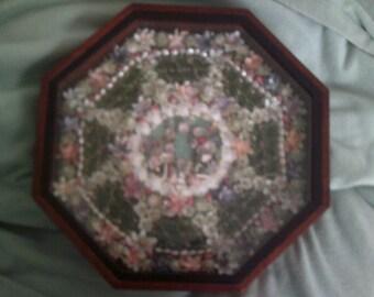"""Handcrafted Sailor's Valentine """"My Garden"""""""