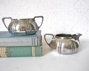 Vintage Hotel Sugar and Creamer, Forbes Silverplate Co.