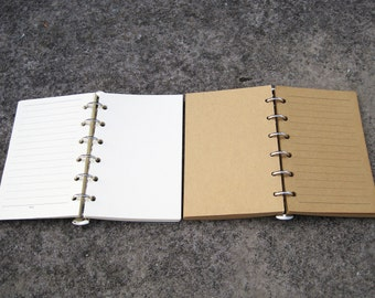 Page Refill. A 4,A5.A6. A7. Leather Notebook. Leather Journal. Leather Diary. Pages. Refill. blank and lined Kraft Paper / white paper