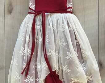 SAMPLE SALE - Gabrielle Dress in Pomegranate - Size 4