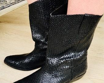 Cole Haan Basket Weave Cowboy Boots