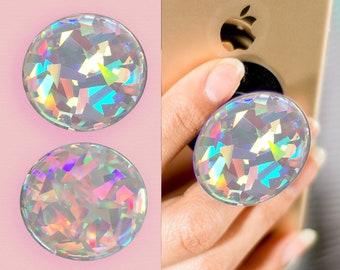 luxury custom made holographic rainbow soft gemstone decal/sticker