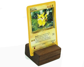 Pokemon Card Holder Holder, Photograph Display, Wooden Photos Holder, Postcard Holder, Print Display, Keepsake Stand, Photo Display