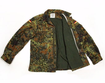 Camo Jacket Vintage Army Jacket Military Issued Button Down Shirt Jacket Military Coat