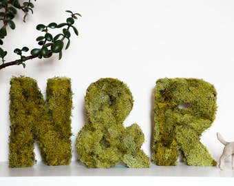 Rustic and Vintage Wedding Moss LETTERS