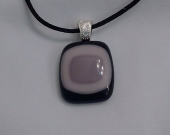 Purple fused glass pendant