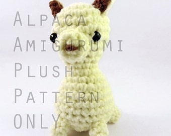 PATTERN: Midi Alpaca Amigurumi Plush (instant download)