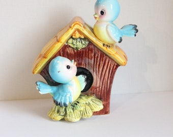Piggy bank naïve style Bird House