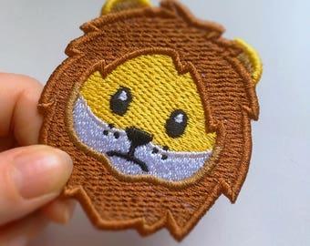 Lion Face Emoji patch