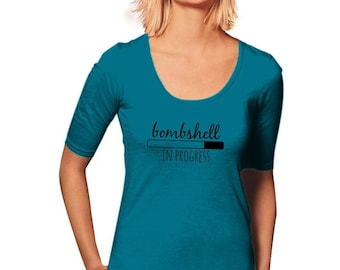 Bombshell T-Shirt - Workout T-Shirt - New Years Resolution - Women's T-Shirt - Womens Graphic Tee - Gym Tee - Sporty Tee