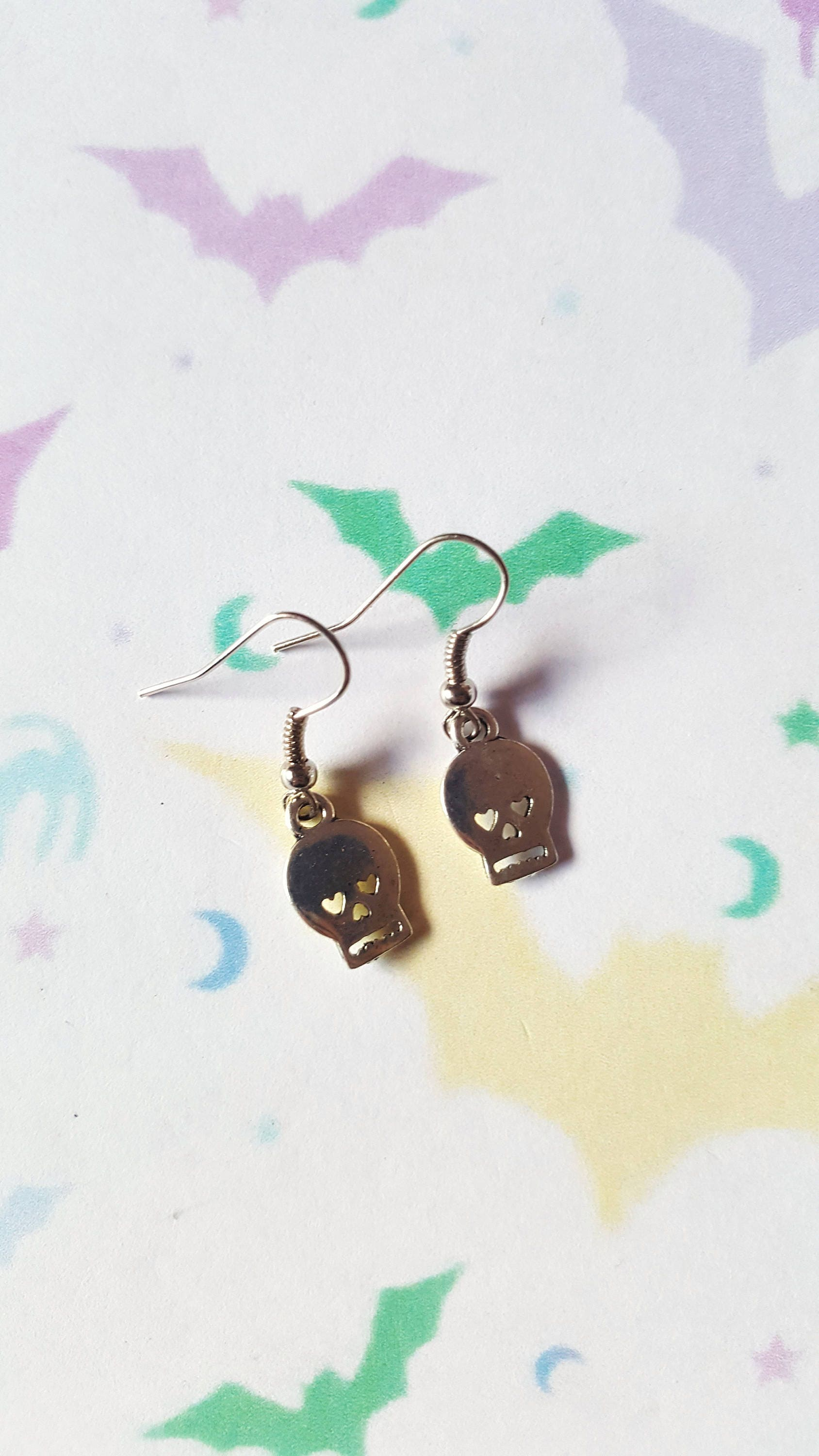 Skull earrings Halloween earrings Alternative jewellery