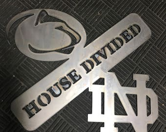 House Divided Metal Sign