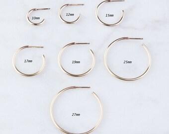 Tube Hoop Earrings, Hoop Earrings, Gold Hoop Earrings, Tube Gold Hoop, Hoop Earrings, TGold Tube Hoops, Classic Hoop Earrings, GFER134