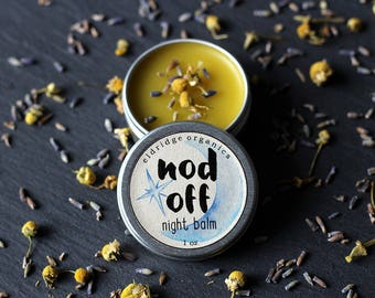 Nod Off Night Balm - Natural Sleep Salve - Sleep Aid - Stocking Stuffer
