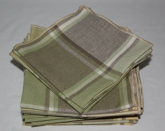Everyday Cloth Table Napkins (set of 4) in plaid pastels, Table Napkins