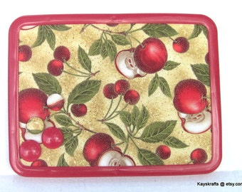 Autumn Apples Fall Fruit Magnetic Board Magnetic Bulletin Board, 8x11, Message Board Adults Grandparents Kitchen Decor, Thanksgiving