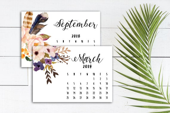 printable calendar 2018 landscape