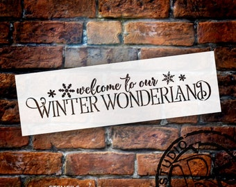 Welcome To Our Winter Wonderland - Word Art Stencil - Select Size - STCL1543 - by StudioR12