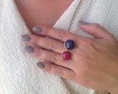 Jade Ring, Agate Ring, Ge...