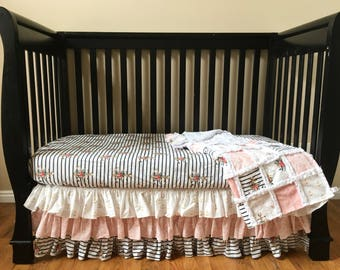 Floral Nautical Baby Bedding