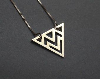 Triangle Necklace, Necklaces For Women, Geometric Necklace, Tiny Necklace, Dainty Necklace, Charm Necklace,  Silver Necklace, Gift for her