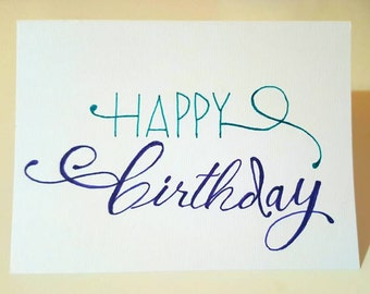 Happy Birthday Greeting Card (Handmade)