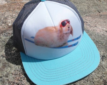 Ski Bunny- Kids Trucker Hat. Inspired by youth and an outdoor lifestyle!