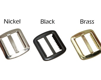 "30 - 3/4"" Suspender/Vest Buckles (Nickel,Brass,Black)"
