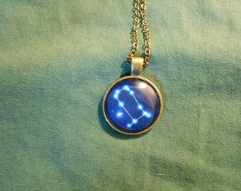 Zodiac star Gemini necklace