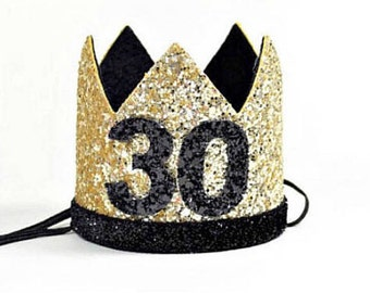 30th Birthday Crown   30th Birthday For Her   Adult Birthday Crown   Thirtieth Birthday Party Hat   Dirty 30   Adult Party Hat Crown
