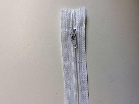 """Nylon coil zipper, 15cm (6""""), white"""
