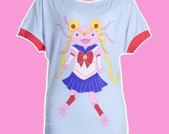 Sailor Axolotl Short Sleeve Shirt